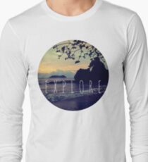 Explore Costa Rican Beach Ocean Tumblr Pastel Quote Print T-Shirt