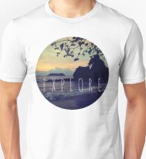 Explore Costa Rican Beach Ocean Tumblr Pastel Quote Print T-Shirt