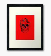 Imperial Death Star Skull Framed Print