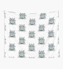 Official Burketeer Logo Badge Blue Wall Tapestry