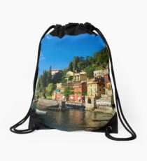 Viewpoint of Varenna Drawstring Bag