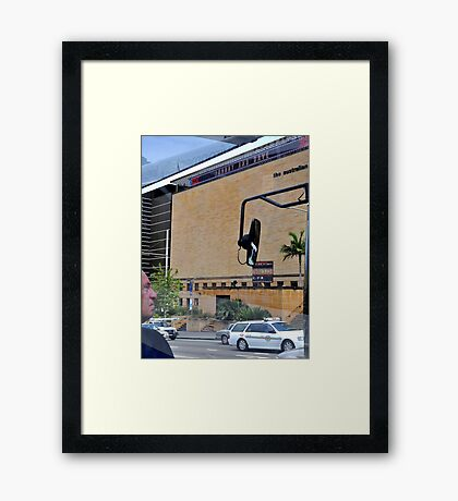 """Johnny and Dave - their """"Names in Lights"""" Framed Print"""
