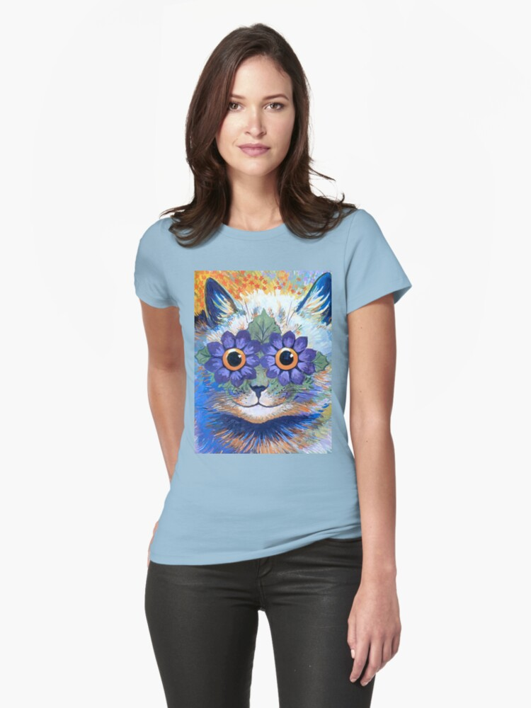 Flower Power Cat T Shirt by simpsonvisuals