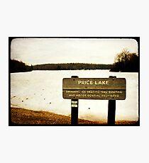 Price Lake Photographic Print