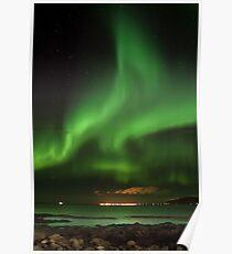 Northern lights - aurora borealis - Iceland Poster