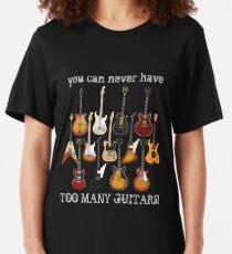 Too Many Guitars! Slim Fit T-Shirt