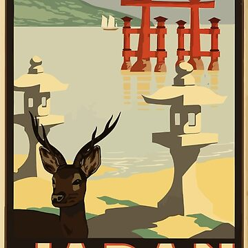 Vintage Travel Japan Poster by SuperPayce