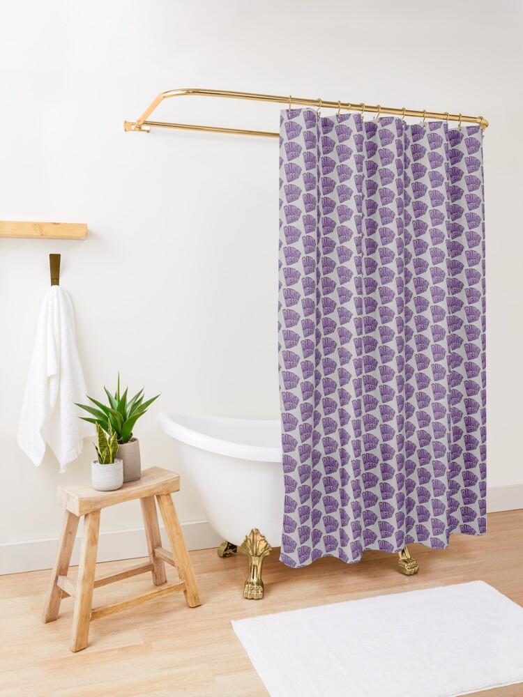 Alternate view of Rudeness Logo Shower Curtain