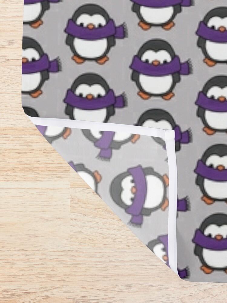 Alternate view of Penguin Logo Shower Curtain