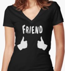 The Inbetweeners - Friend Women's Fitted V-Neck T-Shirt