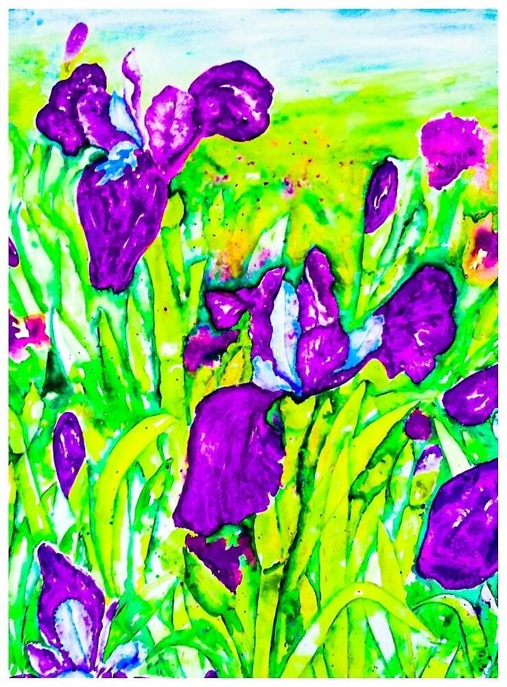 Purple Irises by Valgibbons