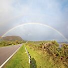 Double Rainbow over Golspie Beach and Ben Bhraggie by Yannik Hay