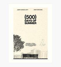 Lámina artística (500) Días de verano