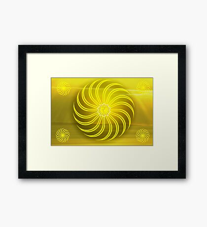 Solar Plexus ~ Yellow ~ Manipura ~ Male Framed Print