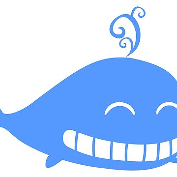 Cute Smiling Whale by SuperPayce