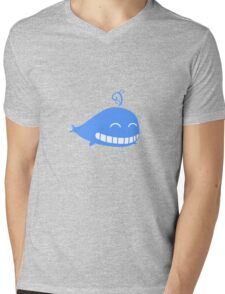 Cute Smiling Whale Mens V-Neck T-Shirt