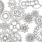 Cogs #3 (Outline) by HolyOther
