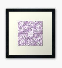 The Last Unicorn Lavender Flowers Framed Print