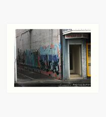 UP IN THE LANEWAY Art Print