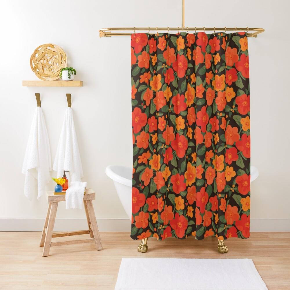 Marmalade Bush. Streptosolen jamesonii Pattern Shower Curtain