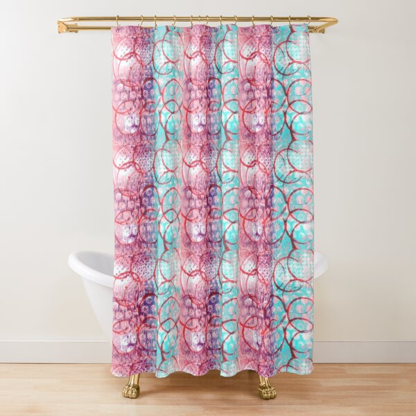 Red Rings Shower Curtain