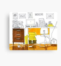 Sketch 3 ... study room Canvas Print