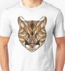 Mountain Lion Fragments Lined Unisex T-Shirt