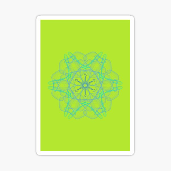 Green healing mandala 2001 Sticker
