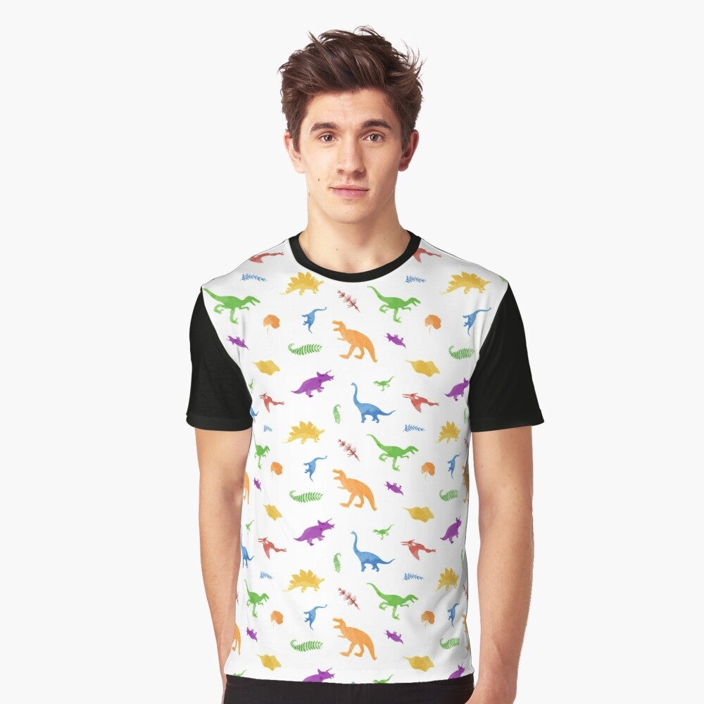 Dinosaurs - watercolor  Graphic T-Shirt