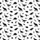 Dinosaurs - black by itsaduckblur