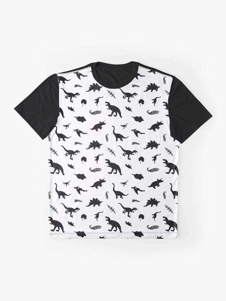 Alternate view of Dinosaurs - black Graphic T-Shirt