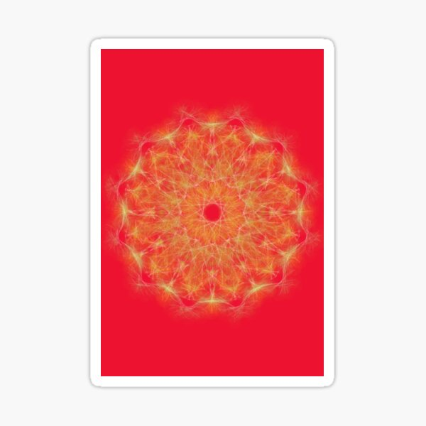 Red healing mandala 5001 Sticker
