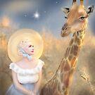 Tara and the giraffe by MarleyArt123