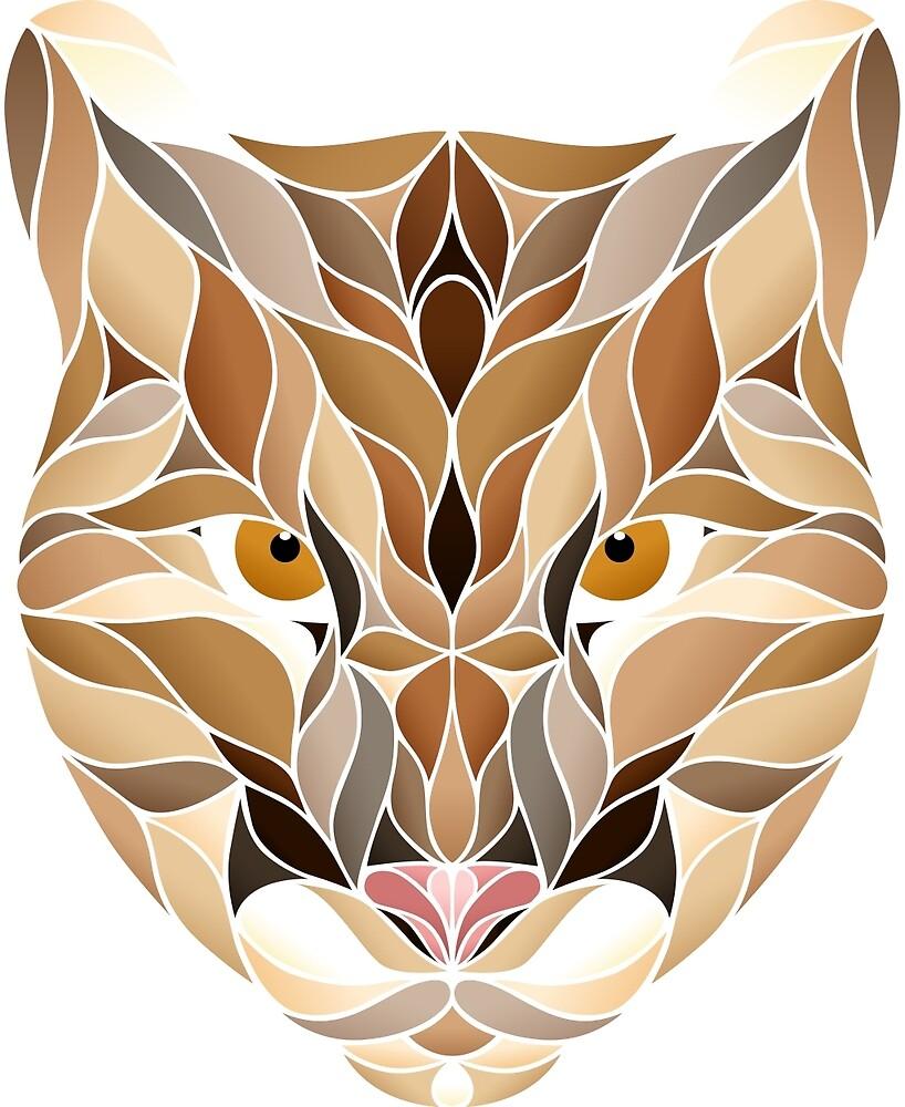 Mountain Lion Fragments Lineless by cutekick