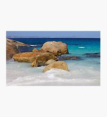 Little Beach Sea Spray Photographic Print
