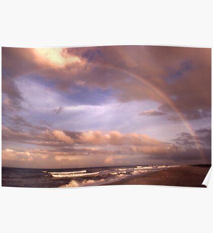 """""""Rainbow Dream"""" - rainbow on Flagler Beach, Florida Poster"""