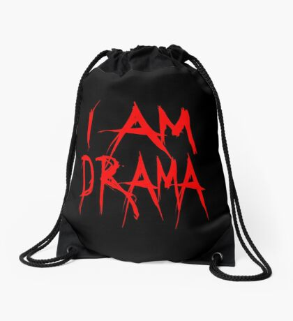 I Am Drama Drawstring Bag