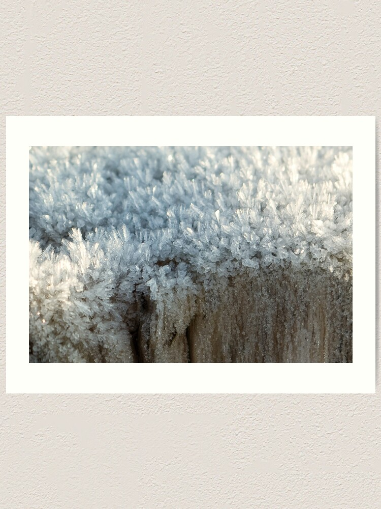 Alternate view of Fascinating ice crystals 3 Art Print