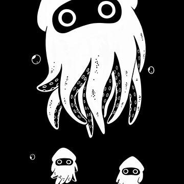 Happy Squid Family by Henzypoo