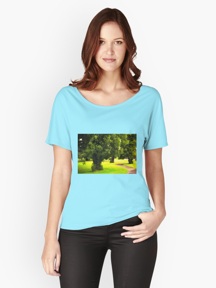 September my Favourite Month - MacAllan Visitor Centre, Easter Elchies Estate Craigellachie, Craigellachie, Banffshire, Speyside, Scotland Women's Relaxed Fit T-Shirt Front