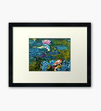 Tranquil Koi Lily Pond Framed Print