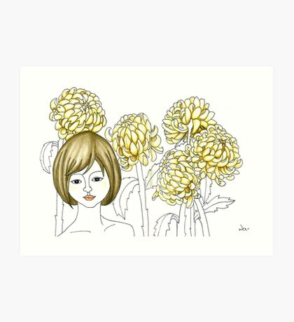 Sketch 4 ... chrysanthemum Art Print