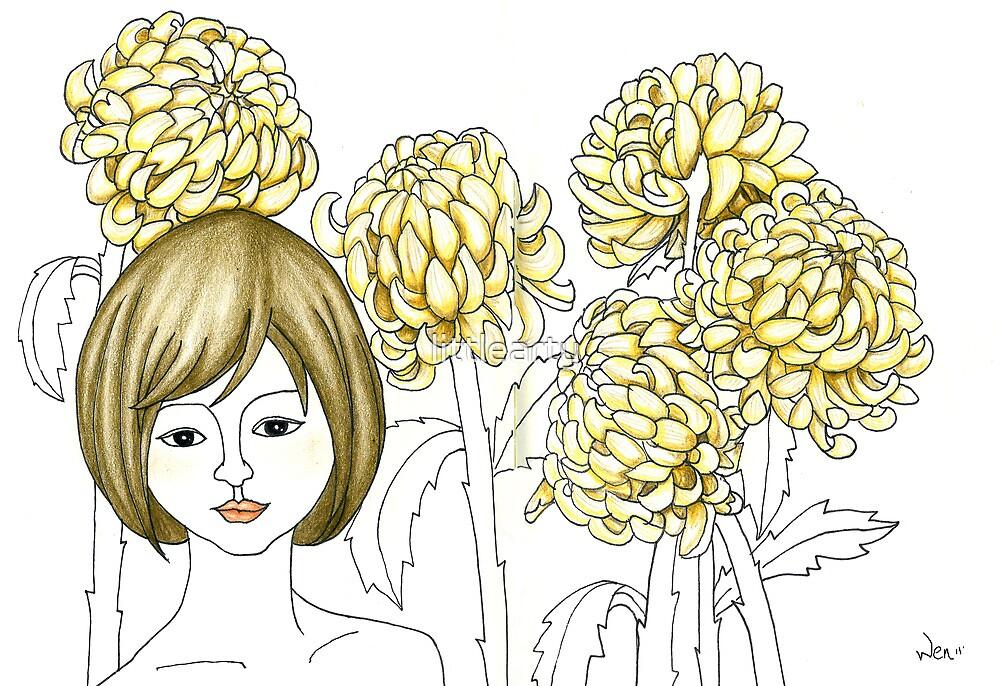 Sketch 4 ... chrysanthemum by littlearty