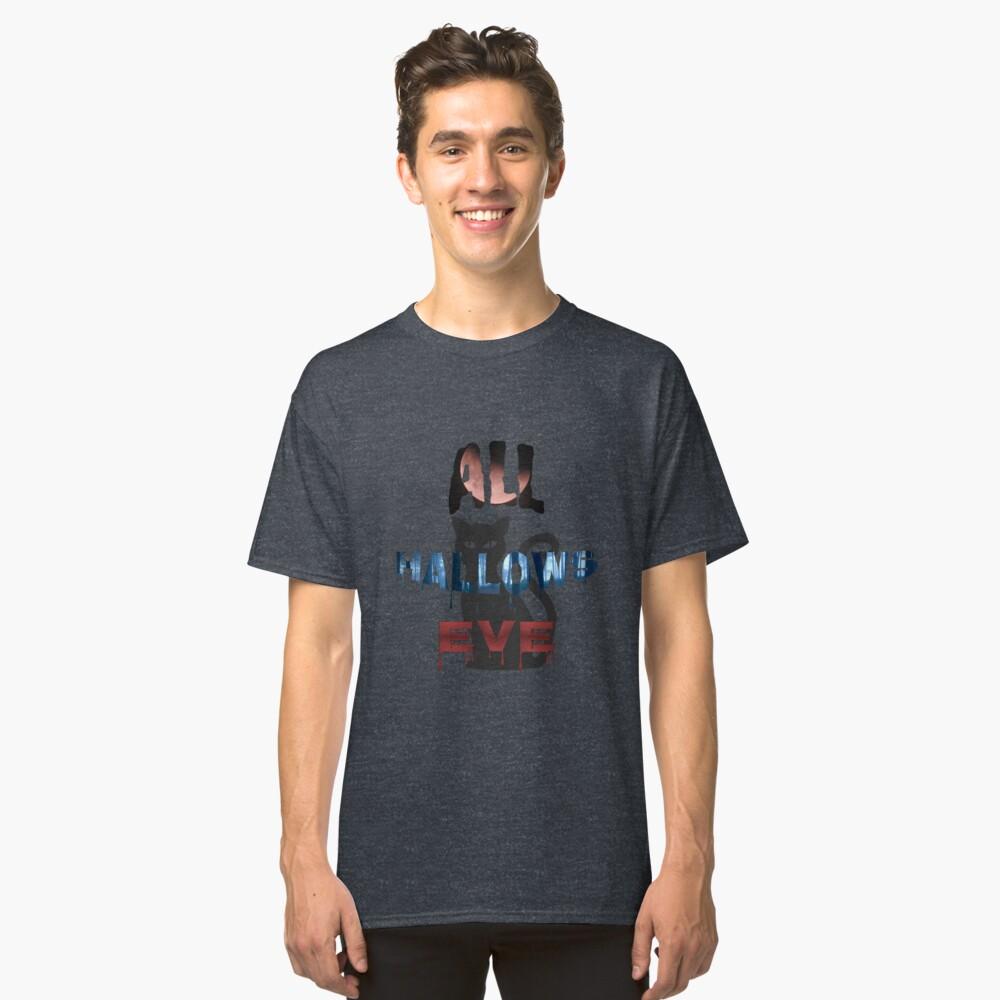 All Hallows Eve Halloween Cat Classic T-Shirt