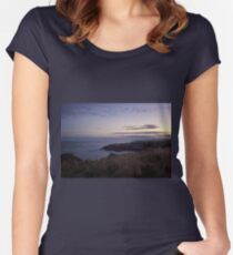 Sunset on Cruden Bay - North East coast of Aberdeenshire, Scotland Women's Fitted Scoop T-Shirt