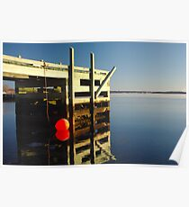Calm morning at the jetty Poster