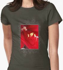 Amaryllis named Black Pearl Womens Fitted T-Shirt