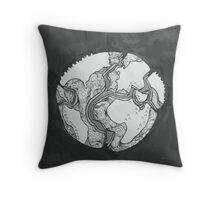 Tectonic Plates Throw Pillow