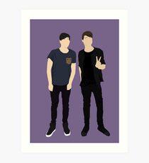 Dan und Phil Silhouetten Kunstdruck