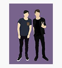 Dan and Phil Silhouettes Photographic Print